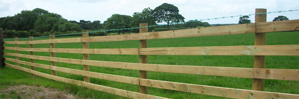 Wooden post and rail fence. Fencing contractors Auckland.