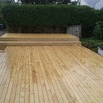 Deck with boxed steps